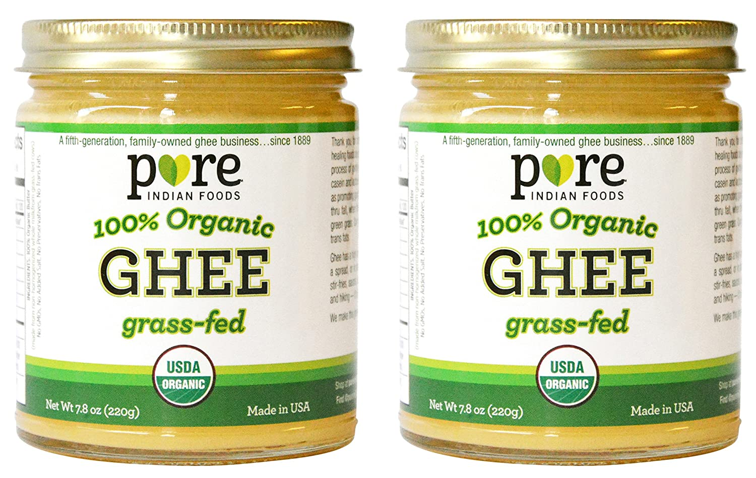 Amazoncom  Grassfed Organic Ghee  Oz Pure Indian FoodsR - Us zip code for india