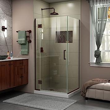 DreamLine Unidoor-X 33 3/8 in. W x 34 in. D x 72 in. H Hinged Shower ...
