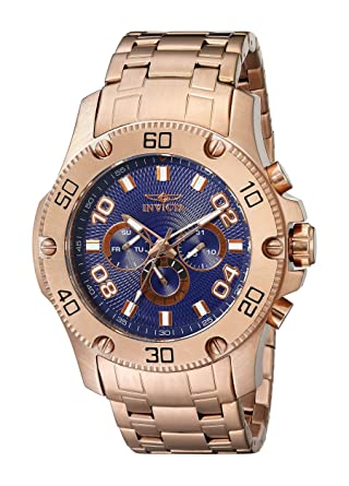 Invicta Mens 19229 Pro Diver Analog Display Swiss Quartz Rose Gold Watch