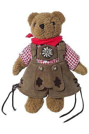 Exclusivo bávaro Franz oso de peluche con pantalones de cuero genuinos originales