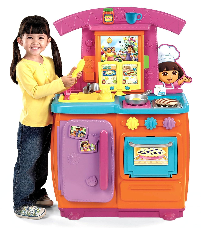 Fisher Price Play Kitchen | Amazon Com Fisher Price Dora Fiesta Favorites Kitchen Toys Games