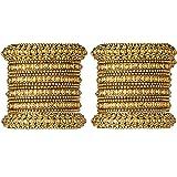 Mansiyaorange Traditional Fancy Designer Party Hand Work Antique Golden Bangle Set for Women