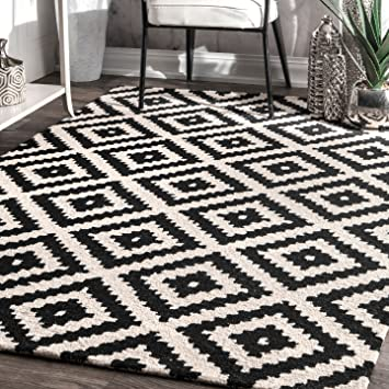 Amazon Com Nuloom Mtvs174a Hand Tufted Kellee Wool Rug 9 X 12