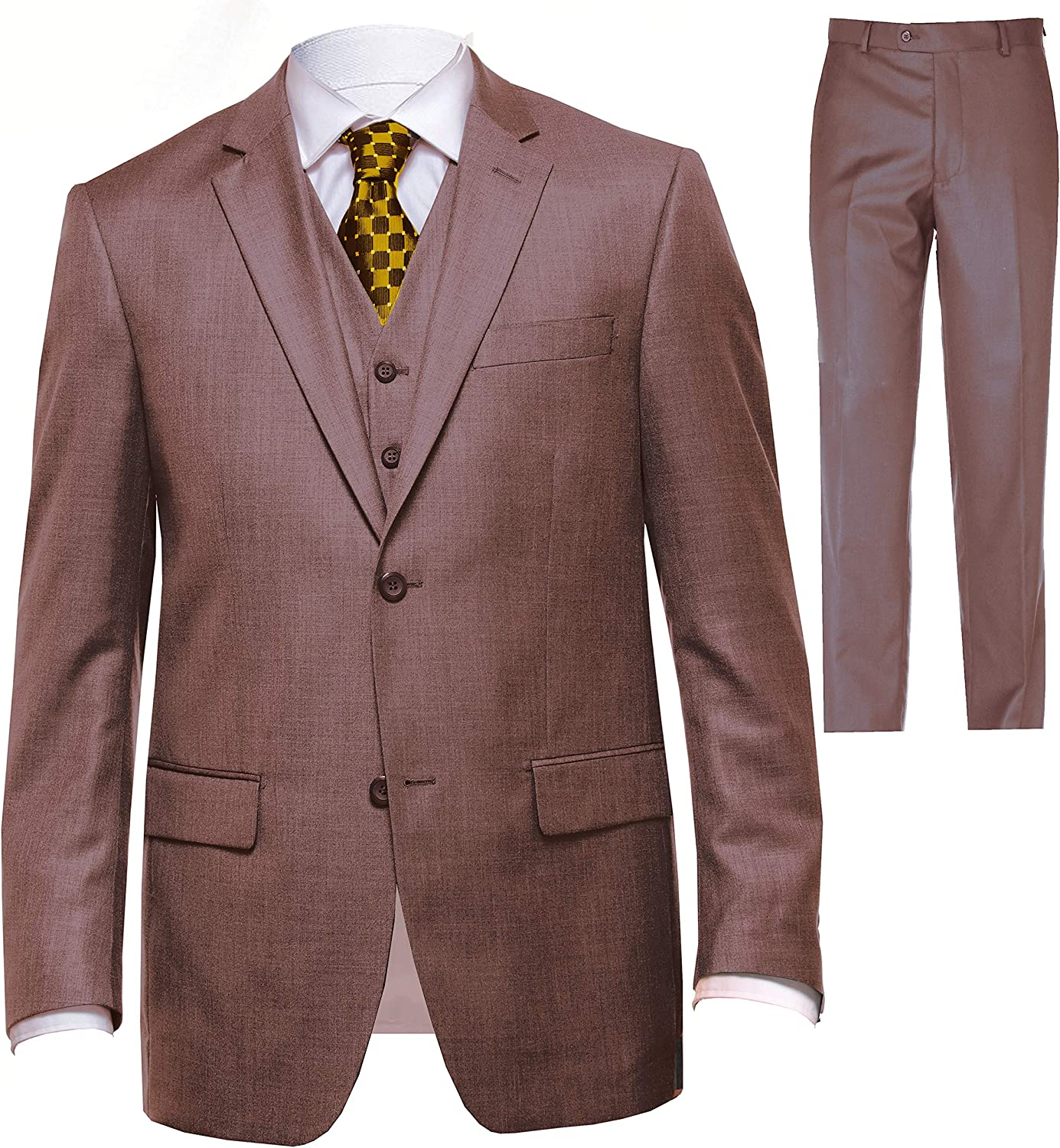 Mens Suit Classic Fit 3 Piece Suit for Men and 2 Piece Suit for Wedding Formal Regular fit Big and Tall