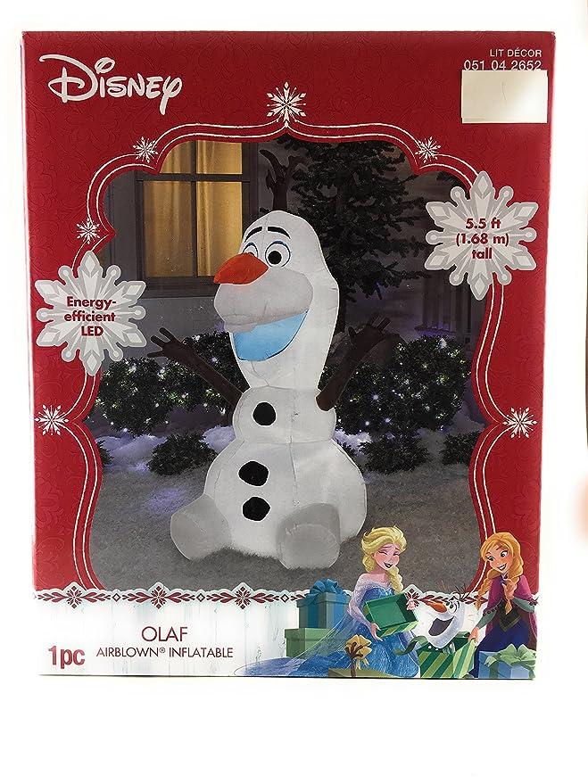Amazon.com: airblown 5.5 ft Disney Frozen Olaf Navidad ...