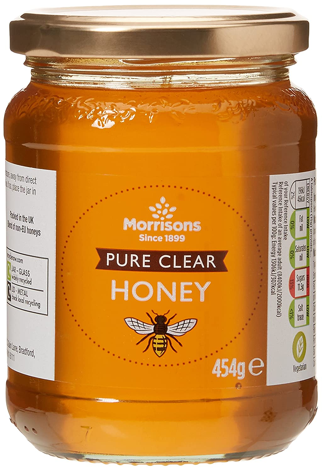 Morrisons Pure Clear Honey 454g Amazoncouk Prime Pantry