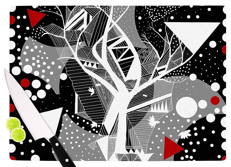 11.5 x 15.75 Multicolor KESS InHouse Marianna TankelevichGeometric Play Black Red Cutting Board