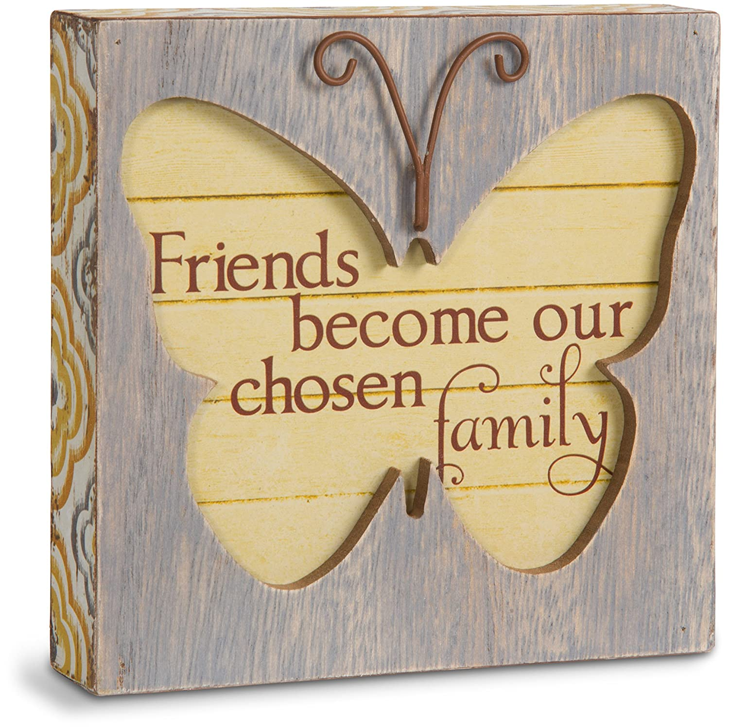 4-1//2 4-1//2 Pavilion Gift Company Simple Spirits 41085 Friend Butterfly Plaque