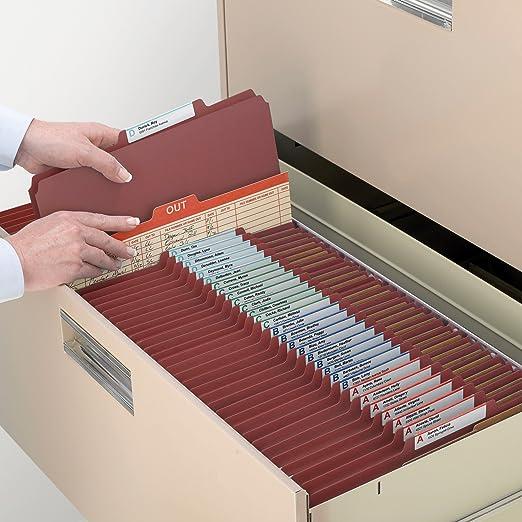 Amazon.com : Cartón Carpeta de clasificación de archivos con SafeShield Sujetadores, 2 divisores, 2
