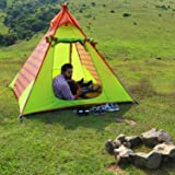WolfWise Four Person 3-4 Season Waterproof Camping Outdoor Tent Family Tent Backpacking Tent Hiking Tent
