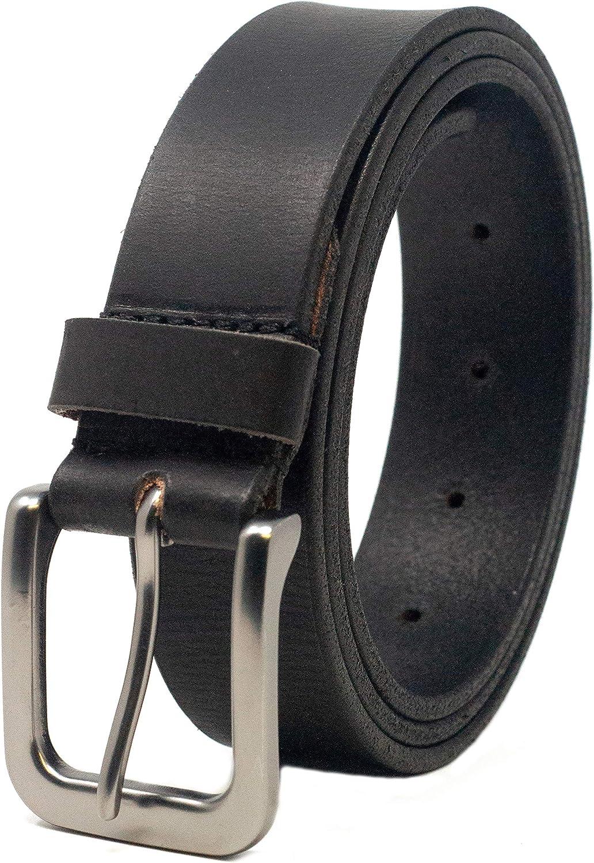 Ashford Ridge 34mm Cintur/ón de cuero negro 1.25 marr/ón o marr/ón claro Full Ocultar