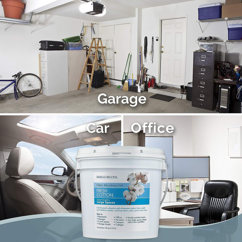 SMELLS BEGONE Odor Absorber Gel - Air Freshener & Odor Eliminator for  Homes, Natural Disasters, Garages & Commercial Buildings - Industrial Size  &