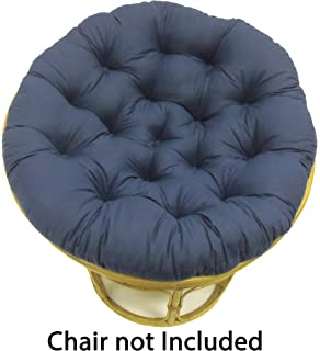 Superbe Cotton Craft Papasan Navy   Overstuffed Chair Cushion, Sink Into Our Thick  Comfortable And Oversized