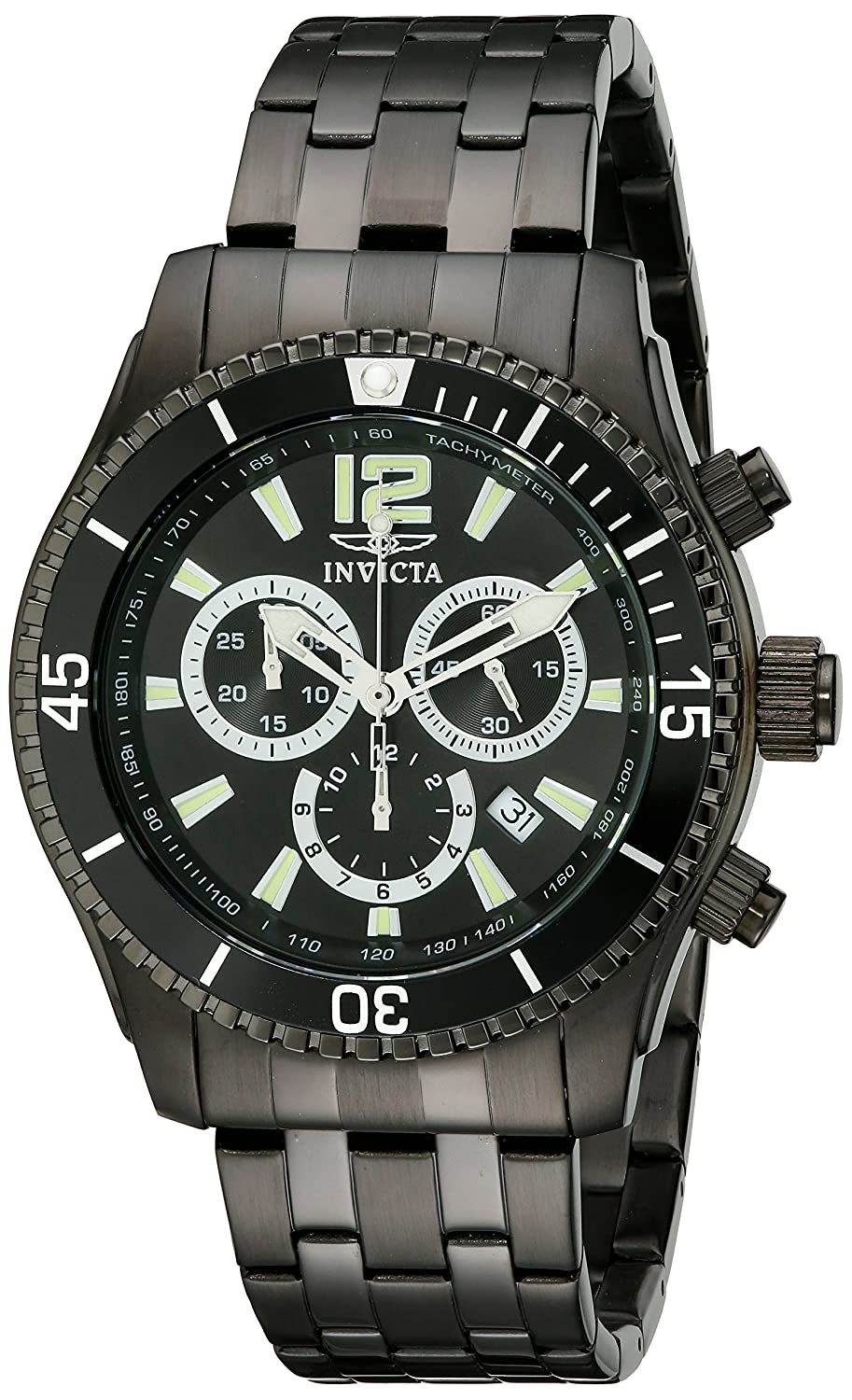 Invicta Men s 0624 Invicta II Chronograph Black Ion-Plated Stainless Steel Watch
