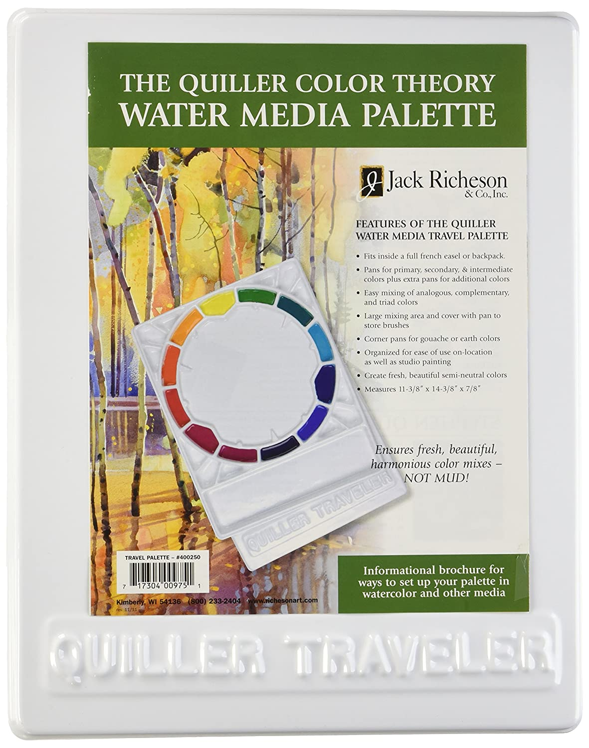 Jack Richeson Quiller Covered Travel Palette 400250