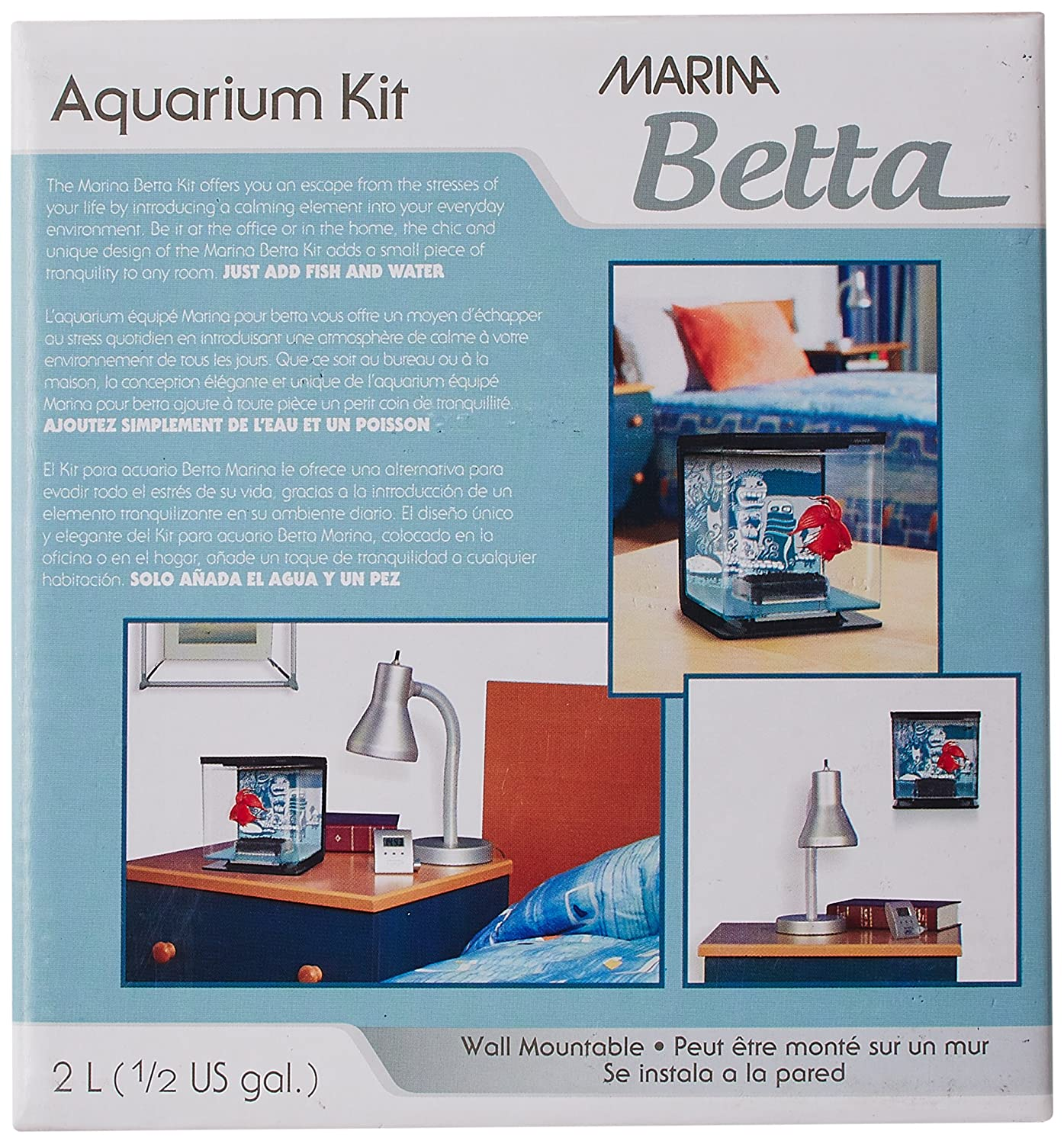 Amazon.com : Marina Betta Aquarium Starter Kit, Wild Things : Pet Supplies