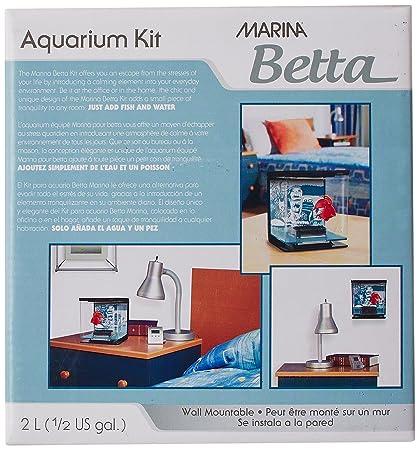 Amazon.com : Marina Betta Aquarium Starter Kit, Wild Things : Pet Supplies