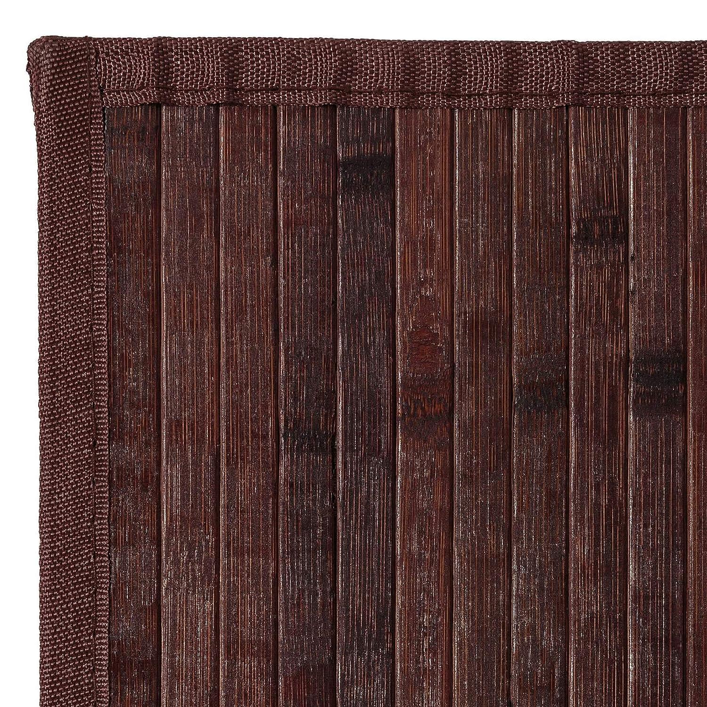 Lola Home Alfombra de sal/ón o Comedor Industrial marr/ón de bamb/ú de 140 x 200 cm Factory