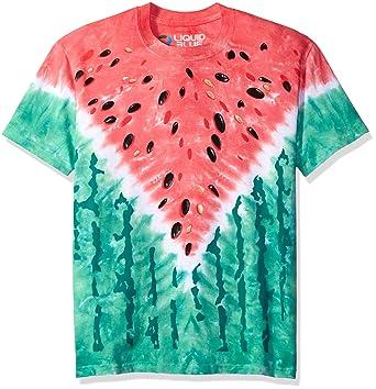 52e458b285b Image Unavailable. Image not available for. Color  Liquid Blue Men s  Watermelon V Short Sleeve T-Shirt ...
