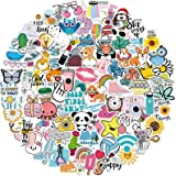 100 PCS Hydroflask Stickers, Cute Waterproof Aesthetic Vinyl Stickers for Water Bottles Laptop Computer Skateboard, Sticker P