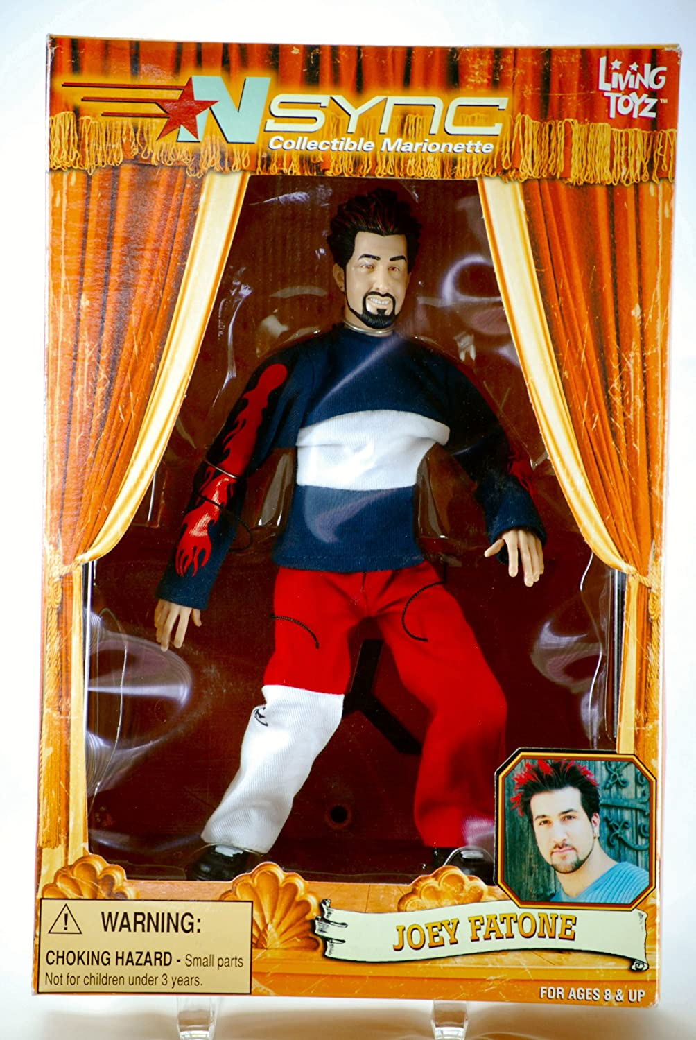 Discontinued Living Toyz N Sync Collectible Marionette Figure Joey Fatone Figure