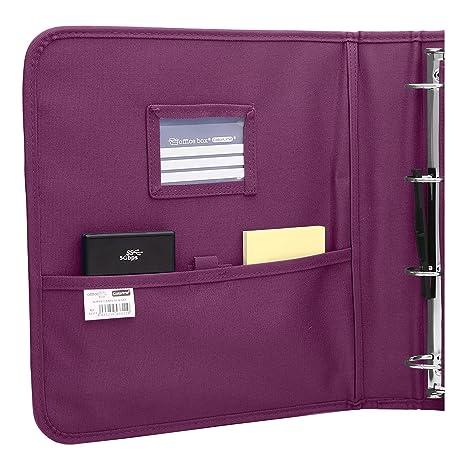Colorline 43311 - Pack Carpeta de 4 Anillas y Porta Todo Integrado, Super Carpeta & Go, Todo en Uno para Material Escolar. Color Morado, Medidas 34 x 29 x 6 ...