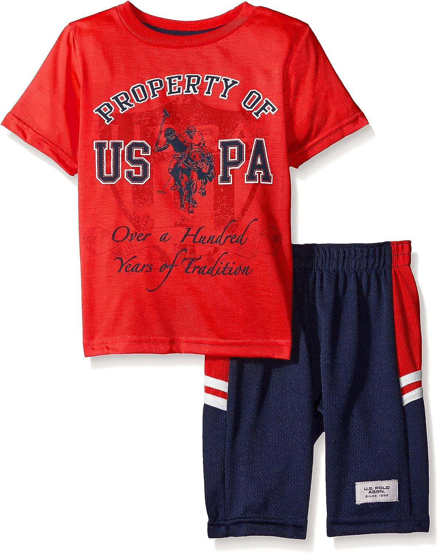 U.S. Polo Assn. - Conjunto de Camiseta y Pantalones Cortos de ...