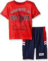 U.S. Polo Assn. Baby Boys' T-Shirt and Mesh Athletic Short Set