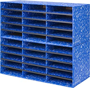 Bankers Box Classroom 30 Compartment Mail Sorter, Single (3384401)