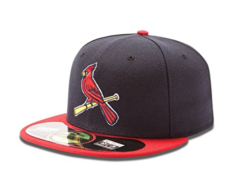 MLB St Louis Cardinals Authentic On Field Alternate 59FIFTY Cap, Navy/Red  Bill,
