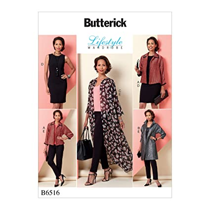 Butterick Patterns MCCALL s Patterns 6516 E5 de Costura para Chaqueta/ Vestido y Pantalones
