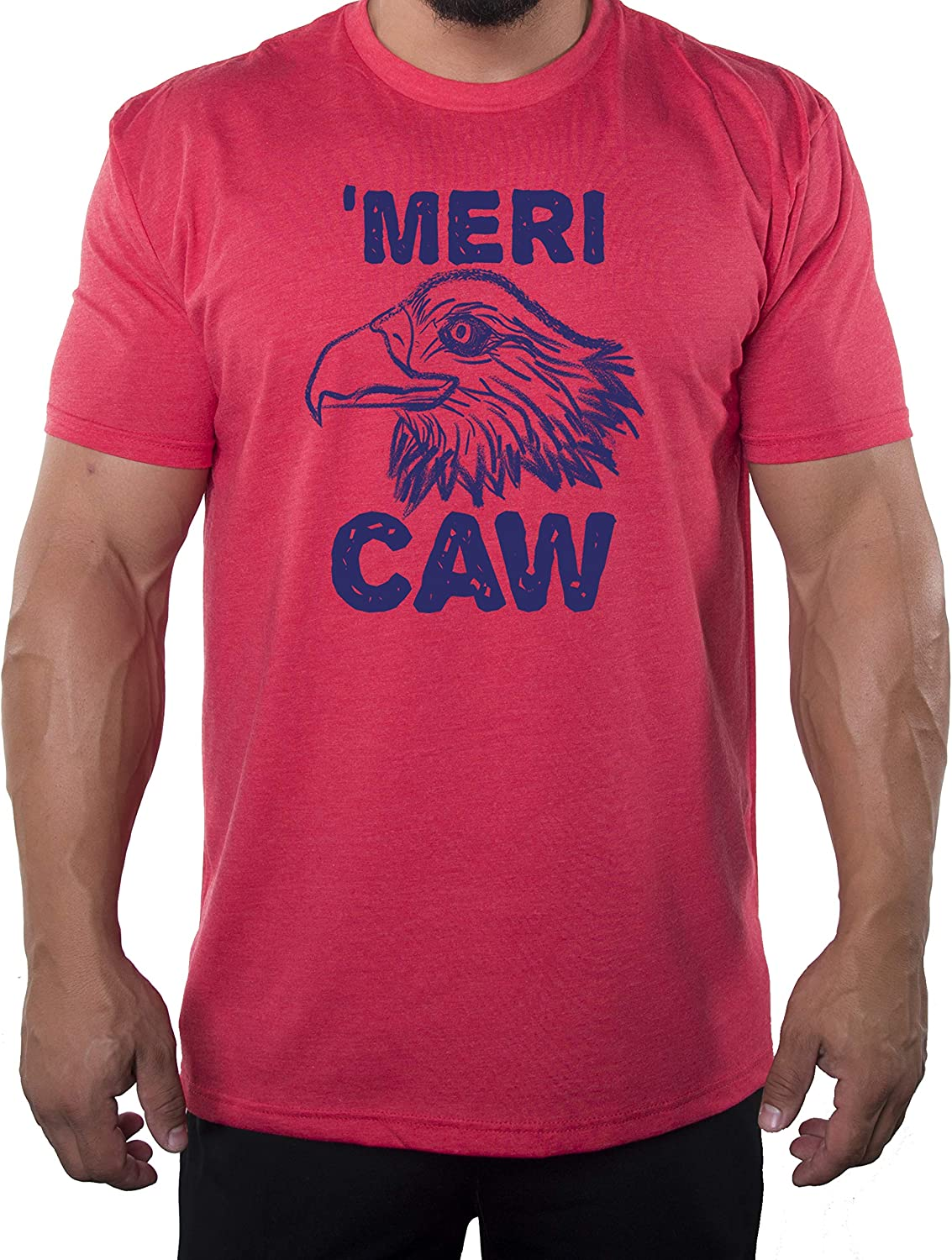 Mato & Hash MeriCAW Men's Patriotic T-Shirts, Funny 4th of July Shirts