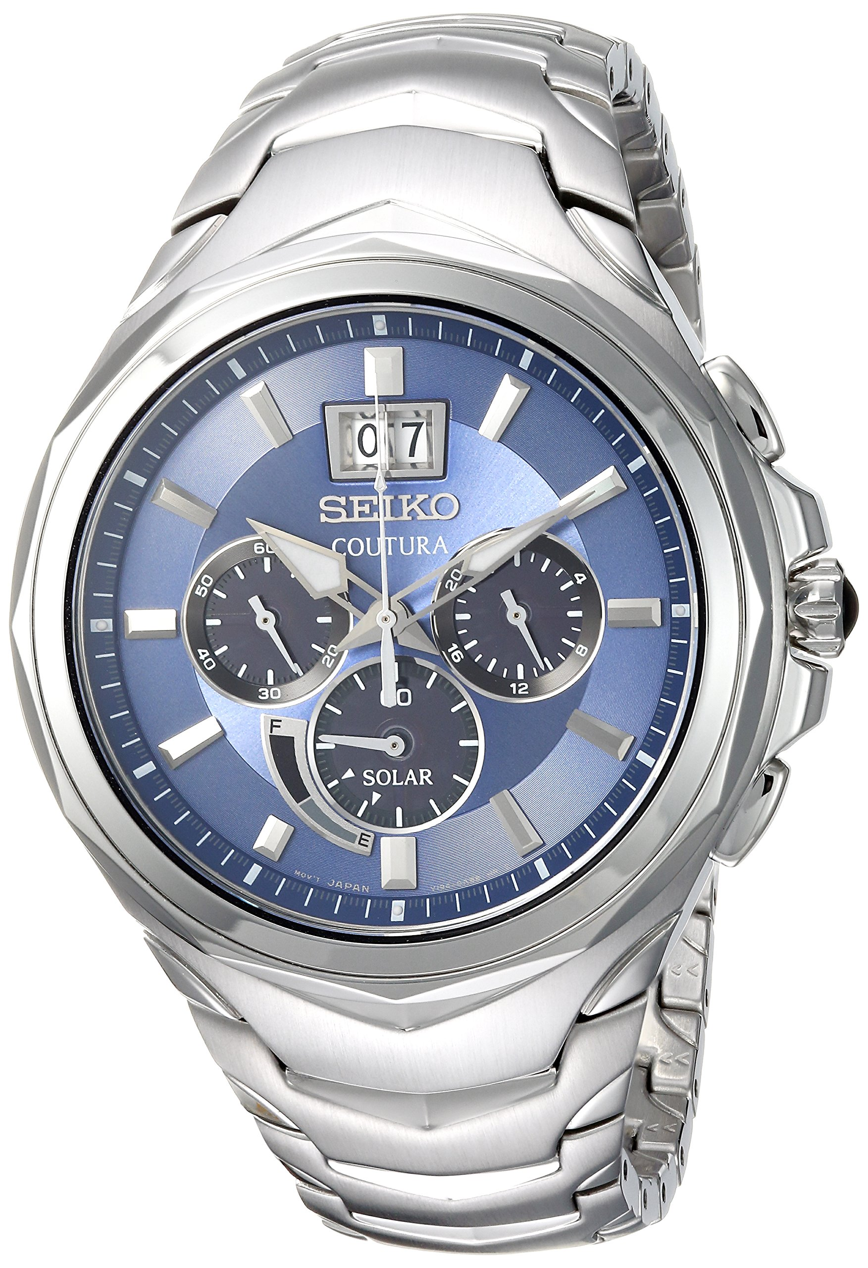 Seiko Men's 'COUTURA CHRONOGRAPH' Quartz Stainless Steel Casual Watch, Color:Silver-Toned (Model: SSC641) by Seiko