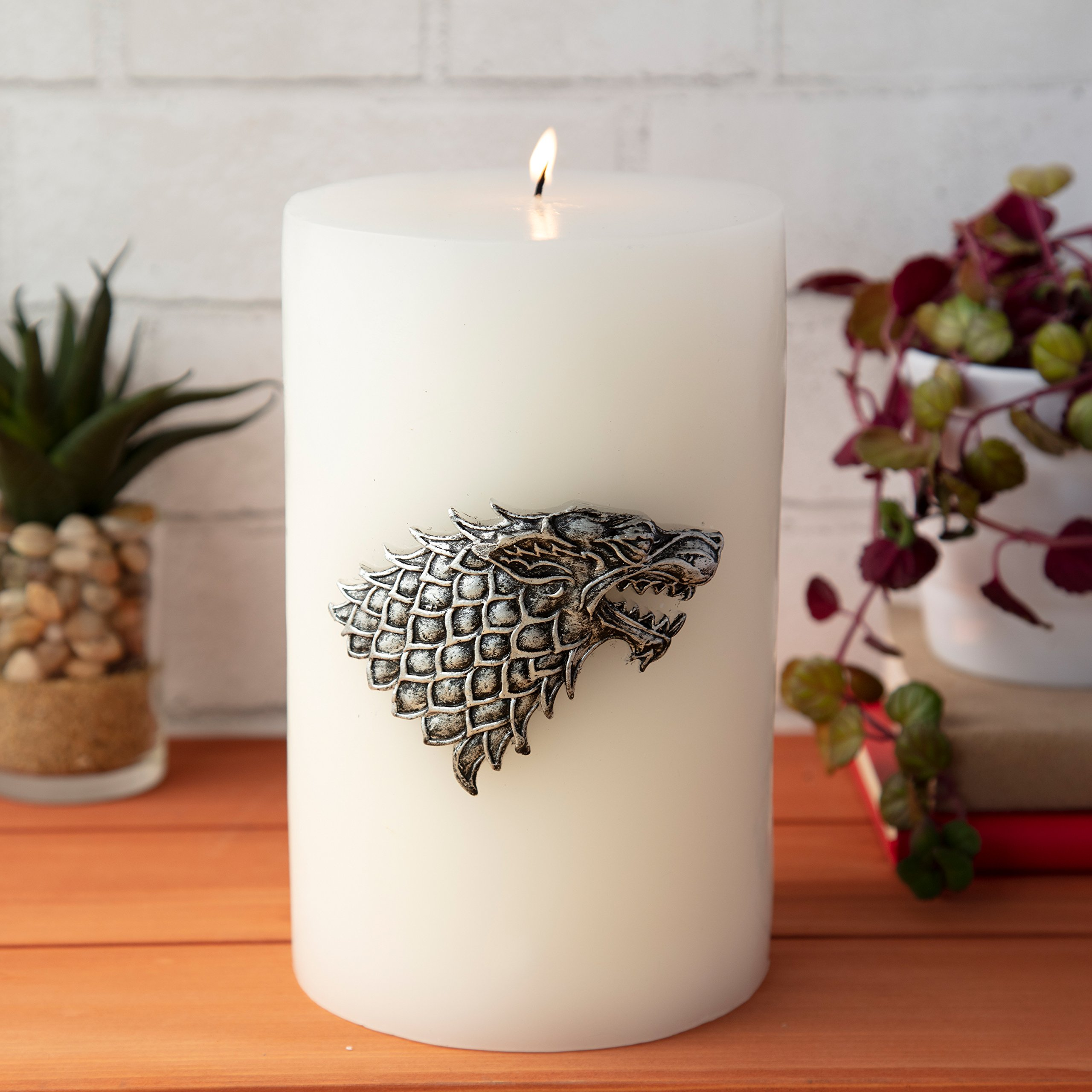 Game of Thrones Candle - Large House Stark Insignia Sculpted Pillar Candle - Perfect for GoT Fans - Unscented - 8''h by Game of Thrones (Image #7)