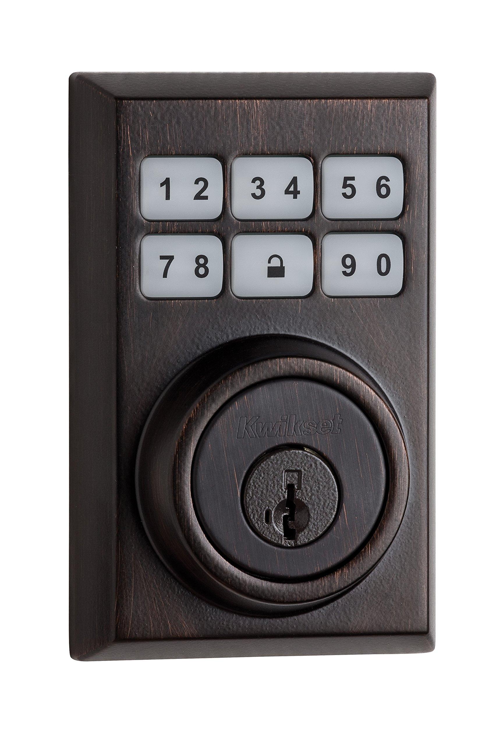 Kwikset 99090-023 SmartCode Electronic Deadbolt featuring Smart Key, Venetian Bronze