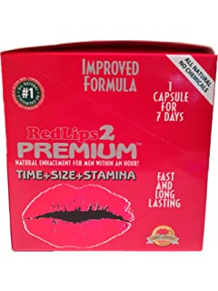 Amazon.com: RedLips 2 Premium Improved Formula Male Enhancement Sex ...