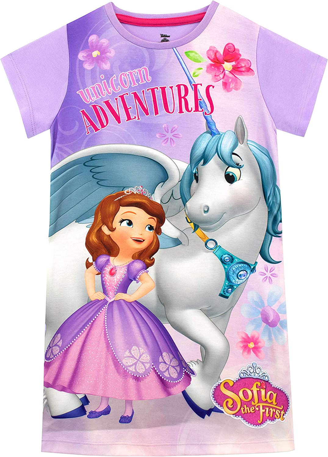Disney Junior Sofia the First Girls Pink Pajama Gown Size 2T