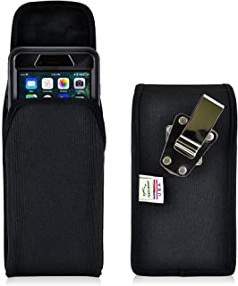 product image for Turtleback Belt Clip Case for iPhone 8 Plus with OB Defender or iPhone 7 Plus with OB Defender Black Vertical Holster Nylon Pouch with Heavy Duty Rotating Belt Clip Made in USA