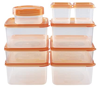 Amazoncom hlm BPA Free Reusable Square Food Storage Containers