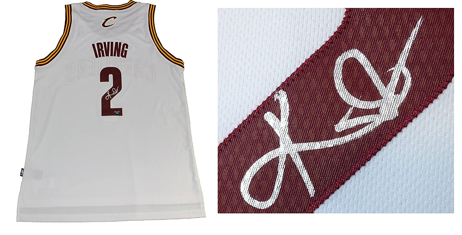 e0f2415802f Kyrie Irving signed Cleveland Cavaliers basketball jersey size L +2 auto  Panini COA NBA Finals Champ at Amazon's Sports Collectibles Store