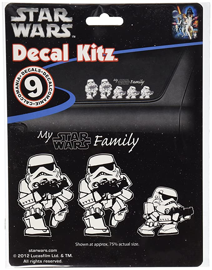 Amazon.com: Chroma 5399 Star Wars Stormtrooper Family Decal Kit: Automotive