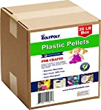 Poly Pellets Bulk for Weighted Blankets, Bean Bags Bulk Box (25 pounds) Non-Toxic, Premium Quality Made in the USA for Rock Tumbling, Stuffing & Filling Dolls, Crafts, Corn Hole Bags