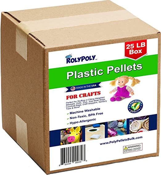 Super Fill Natural Poly Plastic Pellets 10lbs in a Durable Resealable Bag