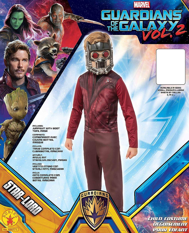 Guardianes de la Galaxia - Disfraz de Starlord para niños, infantil 5-7 años (Rubies 630771-M)