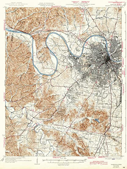 Amazon.com: Tennessee Maps | 1932 Nashville, TN USGS Historical ...