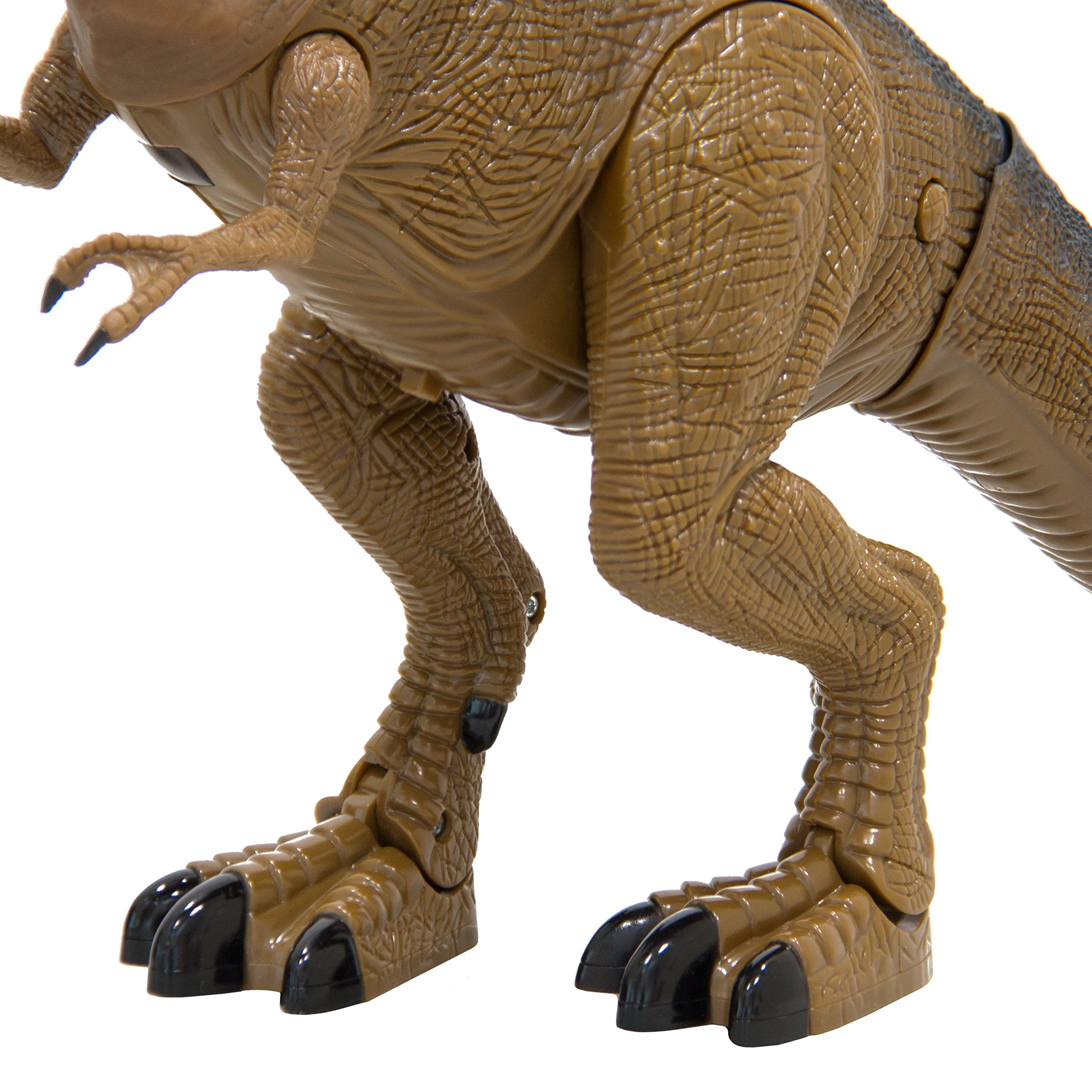 Best Choice Products 19in Kids Walking Remote Control Tyrannosaurus Rex Dinosaur RC Toy w/ Light-Up Eyes, Sounds by Best Choice Products (Image #3)