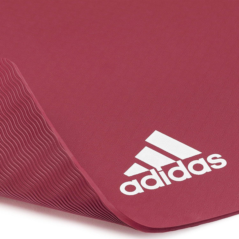 adidas Colchonetas de Yoga-5mm-Rubí, Unisex-Adult, Rubí, 8 ...
