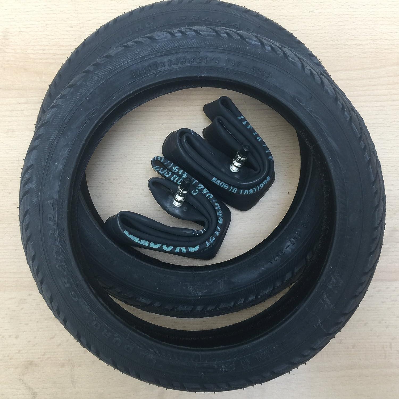 2x Duro Schwarz 12 Zoll Reifen & DV Schlauch 12 1/2 x 1.75 x 2 1/4   ETRTO: 47-203 Fahrrad Kinderwagen Roller
