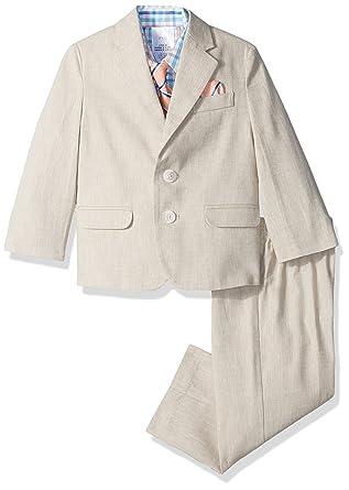 6855cb594e3ef Nautica Boys' Herringbone Linen Suit Set with Hanky