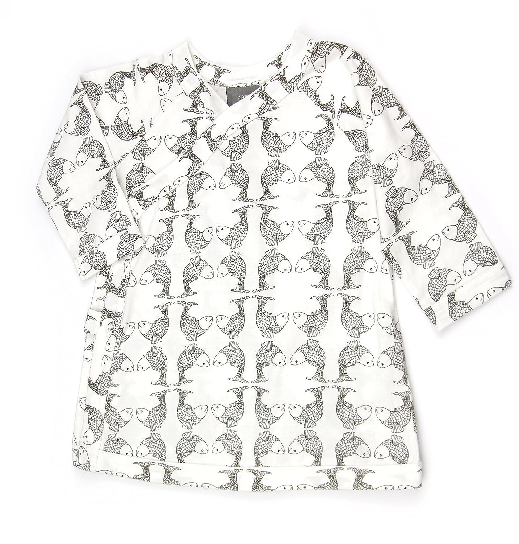 eca4c956691 Amazon.com: Kate Quinn Organics Big Girls' Long Sleeve Kimono Dress, 6Y  (Koi): Clothing